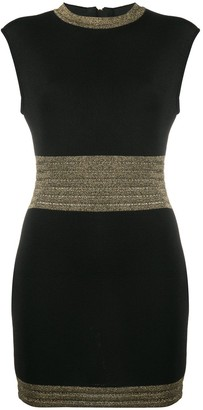 Balmain Metallic Trim Mini Dress