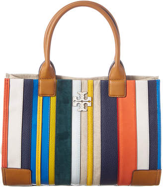 Tory Burch Ella Large Canvas & Leather Tote
