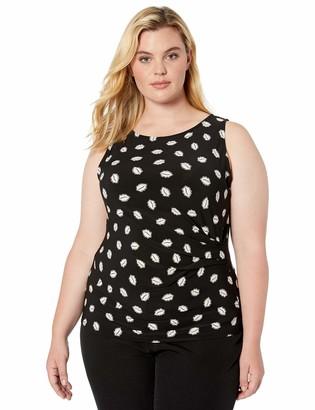 Anne Klein Women's Size Plus Side Twist TOP