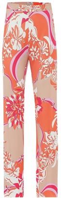 Emilio Pucci Floral crApe pants