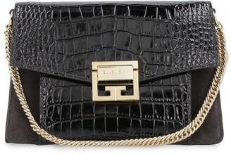 Givenchy Small Gv3 Crocodile Print Leather Handbag