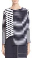 Stella McCartney Women's Asymmetrical Breton Stripe Top