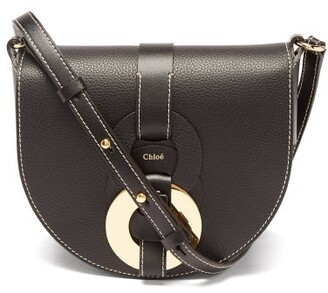 Chloé Darryl Grained-leather Cross-body Bag - Black