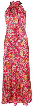 Saloni floral halter dress