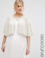 Asos Occasion Cape with Pearl Beads