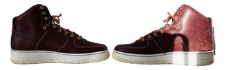 Nike Force 1 Burgundy Leather Lace ups