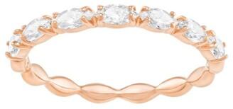 Swarovski Vittore Marquise Ring - White - Rose-gold Tone