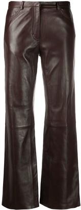 Sandro High-Rise Straight Leg Trousers