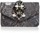 Sondra Roberts Embellished Embossed Leather Clutch