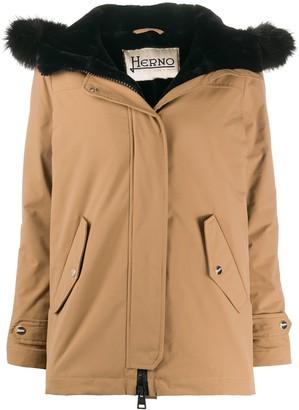 Herno Shearling-Lining Hooded Jacket