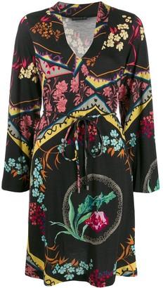 Etro patterned long sleeve dress