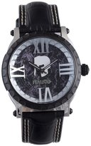 Colosseum Italico Men's ITCP02-F Black IP Black Dial Leather Watch