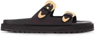 Versace Buckle Strap Sandals