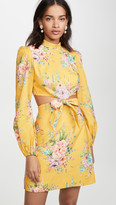 Zimmermann Zinnia Bow Cutout Short Dress