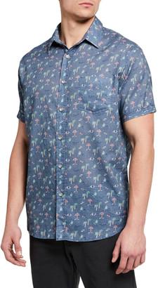 Rails Men's Carson Printed Short-Sleeve Sport Shirt