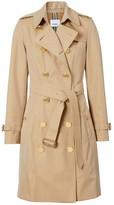 Burberry Button Detail Cotton Gabardine Trench Coat
