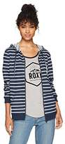 Roxy Women's Trippin Stripe Zip up Fleece Sweatshirt