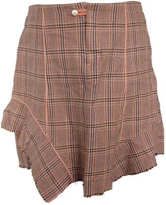 One Step Pink Cotton Skirt for Women
