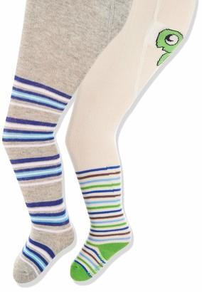 Playshoes Baby Girls' Schildkrote und Ringel mit Komfortbund Tights