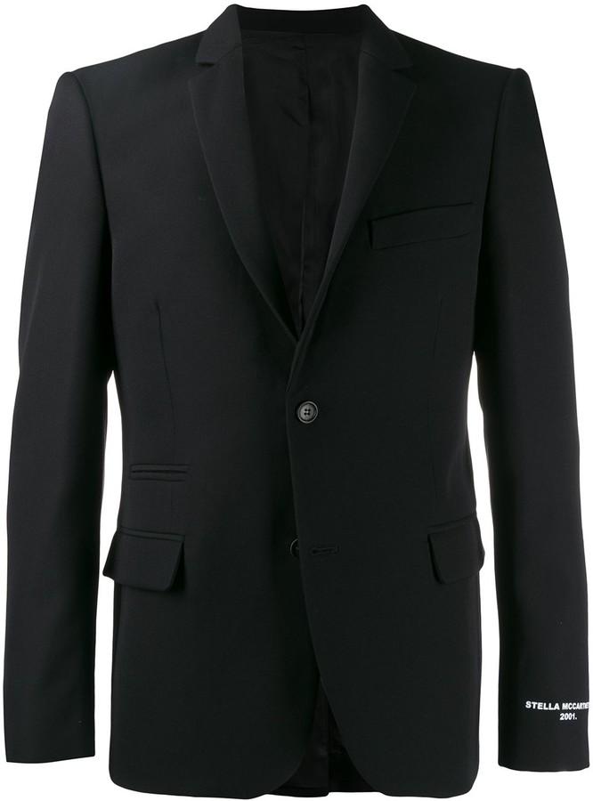 244610c46 logo print blazer jacket