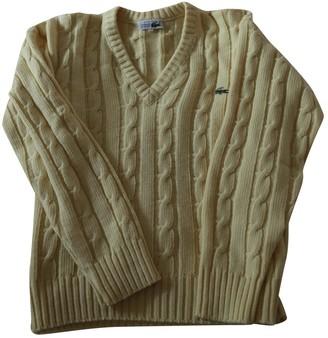 Lacoste Yellow Wool Knitwear