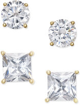 Giani Bernini 2-Pc. Set Cubic Zirconia Stud Earrings in 18k Gold-Plated Sterling Silver, Only at Macy's