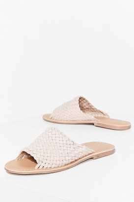 Nasty Gal Womens You'll Never Walk Alone Suede Flat Sandals - Nude