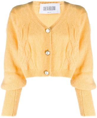 GRETA BOLDINI Ballon-Sleeved Knit Cardigan