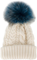 Miu Miu fluffy bobble cable knit hat