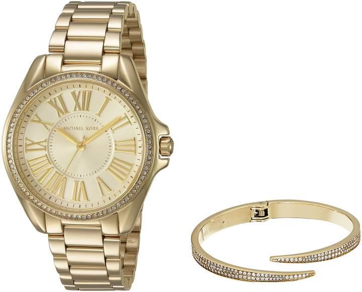 Michael Kors Women's Kacie -Tone Watch and Bracelet Gift Set MK3568
