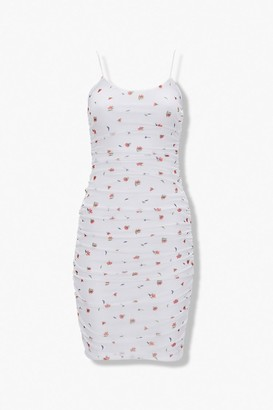 Forever 21 Floral Bodycon Mini Dress