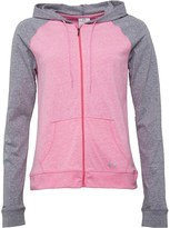 Under Armour Womens HeatGear Charged Cotton Undeniable Zip Hoody Pink/Grey