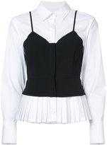 Yigal Azrouel layered bustier shirt - women - Cotton/Spandex/Elastane - 4