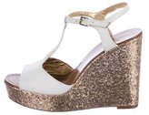 Kate Spade Glitter Wedge Sandals