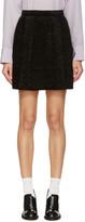 Carven Black Faux-astrakhan Skirt