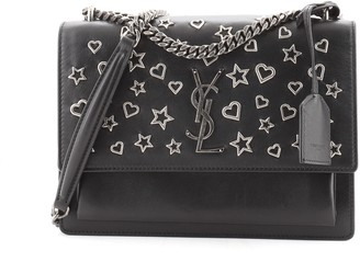 Saint Laurent Sunset Crossbody Bag Embellished Leather Medium