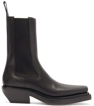 Bottega Veneta Lean Leather Chelsea Boots - Black