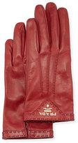 Prada Napa Leather Gloves, Ruby