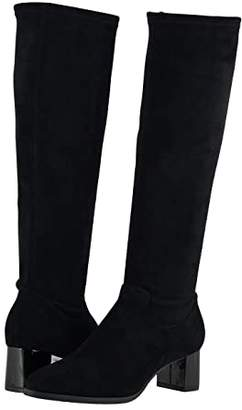 Trotters Kacee (Black Microfiber Suede) Women's Boots