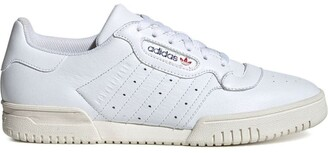 adidas white Powerphase leather low-top sneakers