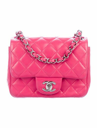 Chanel Mini Square Flap Bag Fuchsia