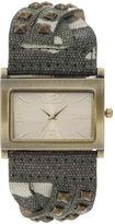 JCPenney Decree Womens Camo Stud Bracelet Watch