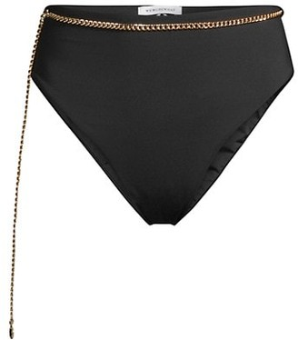 WeWoreWhat Emily Chain Belted Swim Bottoms