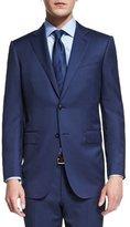 Ermenegildo Zegna Milano Micro-Check Two-Piece Wool Suit, Blue