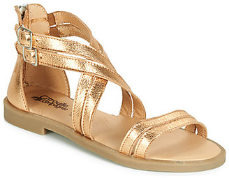 Citrouille et Compagnie IMOURAT girls's Sandals in Gold