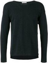 Societe Anonyme Asymmetric hem pullover - men - Cotton - 1