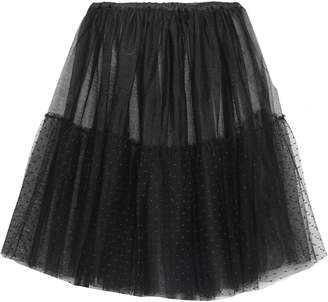 RED Valentino Tulle And Point D'esprit Mini Skirt