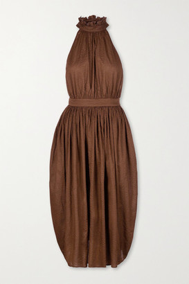 Marysia Swim Sea Urchin Textured-cotton Midi Dress - Brown
