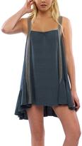 Anama Deep Green Ruffle-Hem Shift Dress