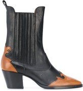 Paris Texas contrast ankle boots